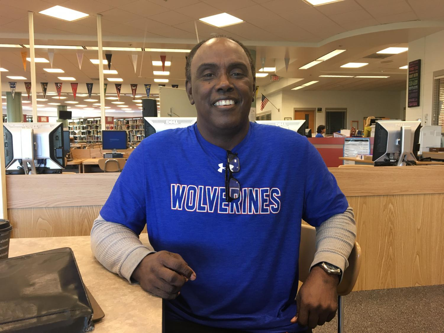 Paraeducator David Diggs is back at Watkins Mill High School after defeating cancer for the second time.