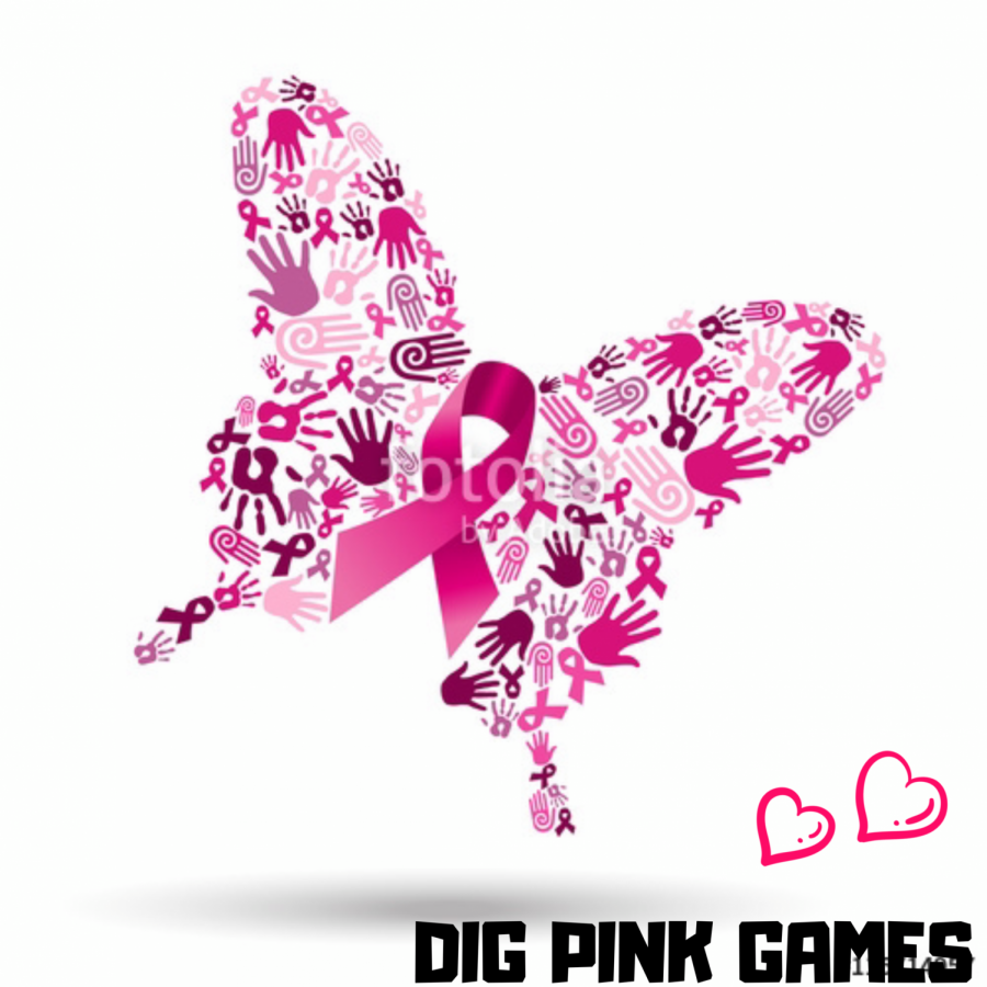 Volleyball%27s+annual+Dig+Pink+game+will+be+dedicated+to+science+teacher+Lauren+Wilkinson+this+year%2C+who+is+currently+in+remission+from+breast+cancer.+