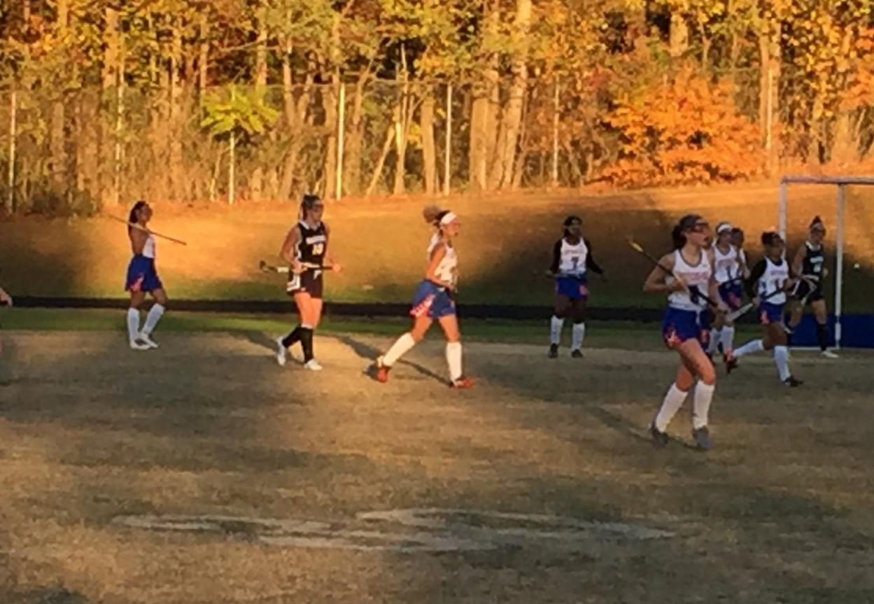Field Hockey took on Magruder in the first round of the playoffs, but lost.