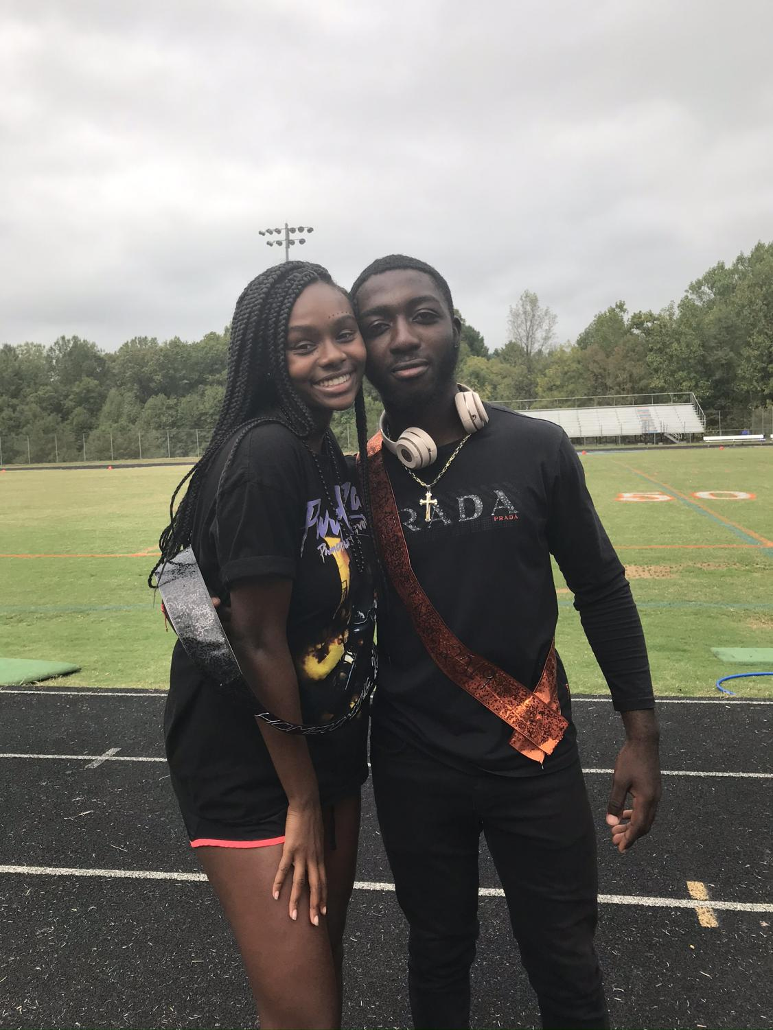 Seniors Isis Barnes and Victor Kum are nominated for Homecoming King and queen.