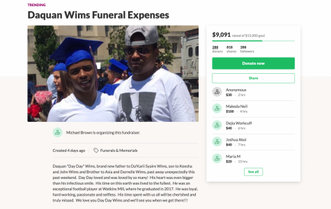 Coach Michael Brown created a GoFundMe page to help with the funeral expenses of Daquan Wims.