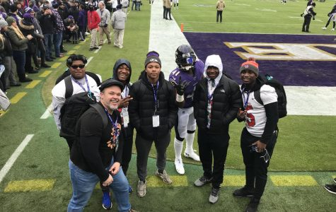 'Rines 'rise' up on Ravens field in halftime competition