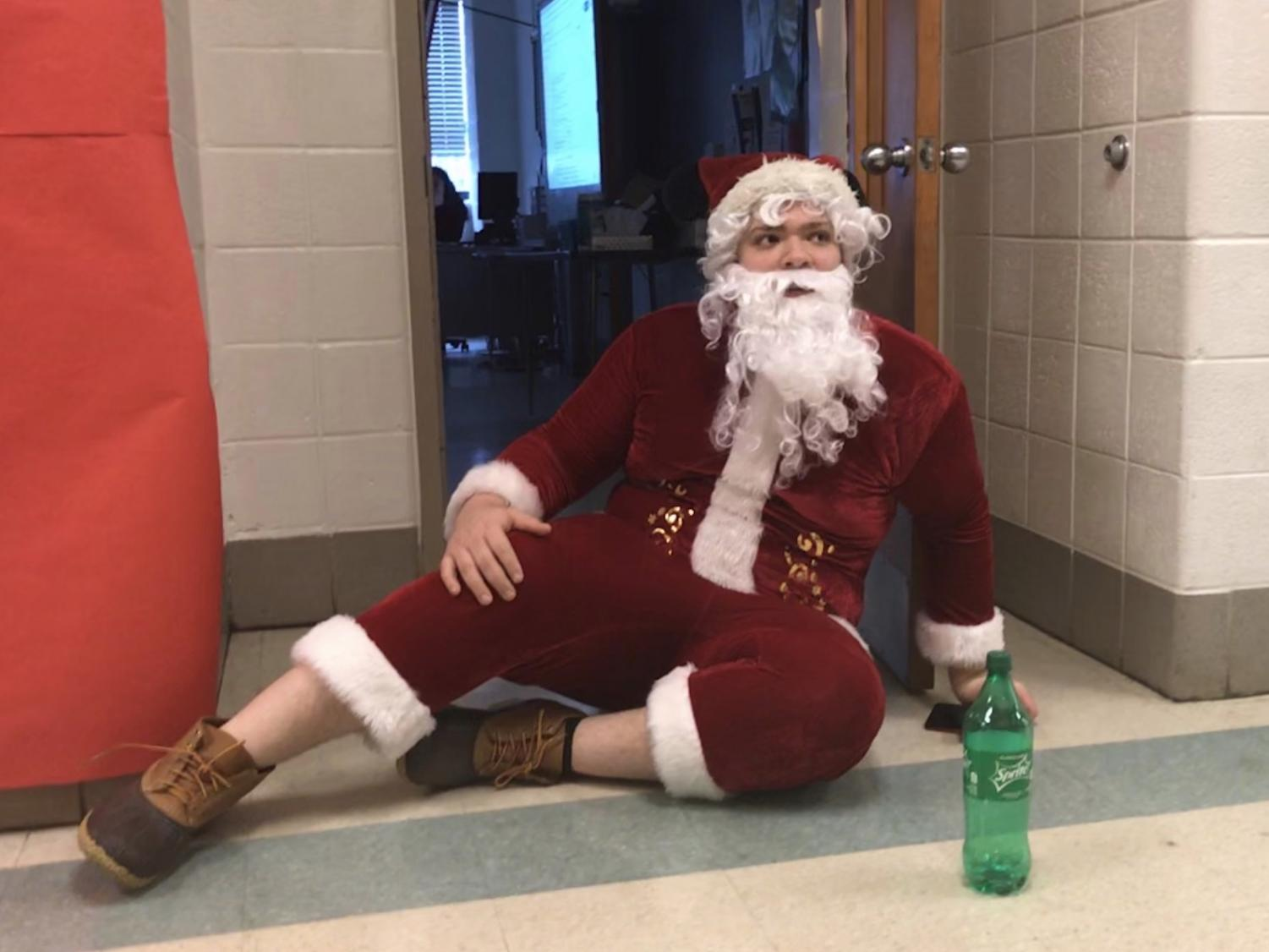 Santa (Class of 2018 alumni Tyler Lewis) returned to Watkins Mill to spread holiday cheer in a now-annual tradition.