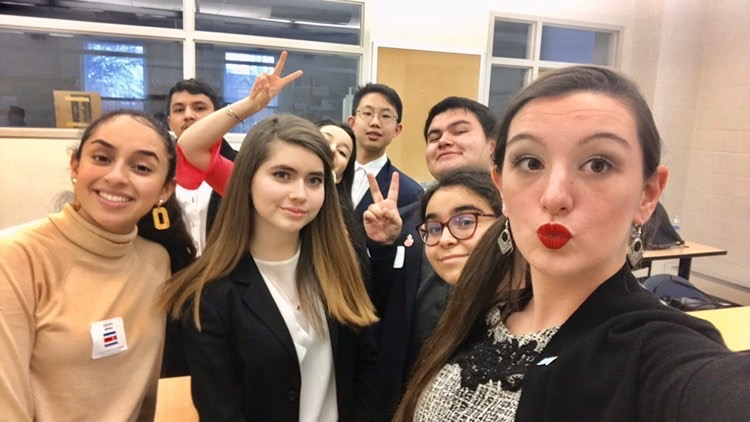 The Watkins Mill High School Model UN team wins Best Small Delegation.