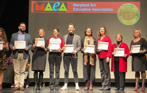 Ward wins Maryland Adult Education Association art educator award