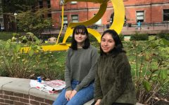 Gisell Maravi (right) and Natalie Helsel (left) visiting Pratt Institute in New York.