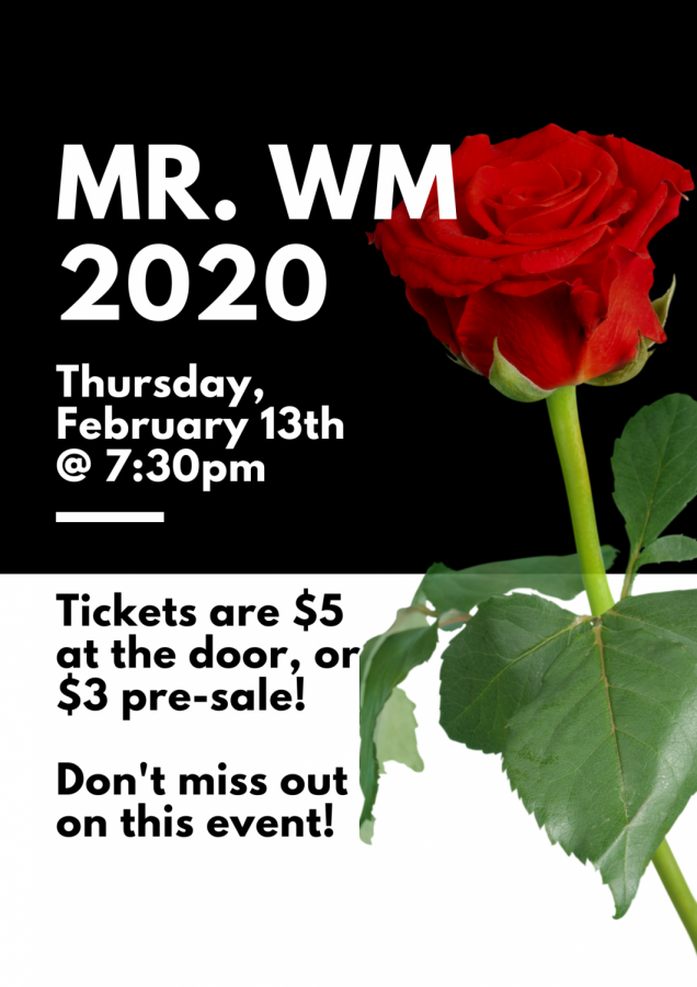 The Mr. Watkins Mill Pageant takes place tonight, February 13, at 7:30pm in the auditorium.