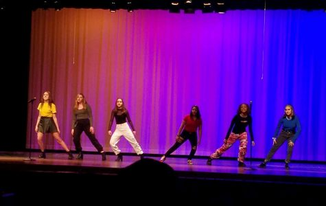 A group of students open the 2020 MCPS theatre festival with a dance performance.
