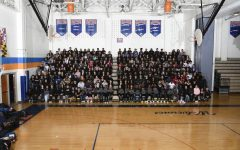 The 2020 senior class of Watkins Mill High School poses for their class photo.