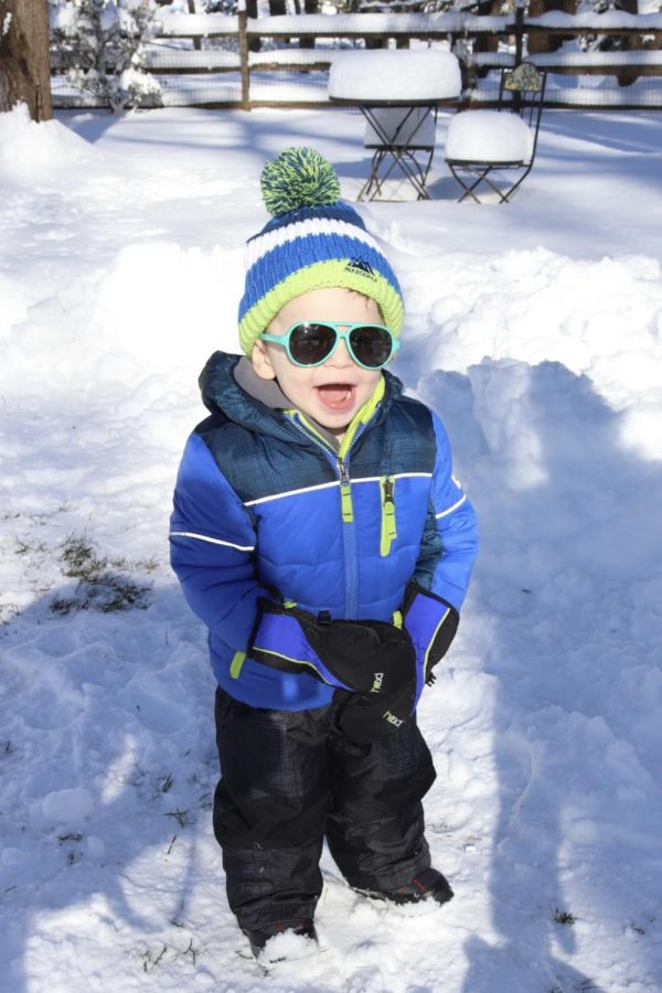 Discontinuing snow days discontinues gleeful baby smiles. How could you resist?