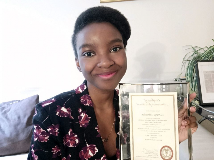 Senior Tanya Yahouedeou was nominated for the Congress of Future Medical Leaders.