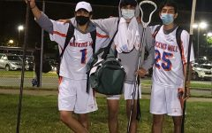 Seniors Abraham Quintanilla, Jason Bailey, and junior Andy Romero are ready to take off their masks and win lacrosse games beginning this Monday, May 24.