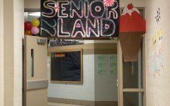 Seniors poster SeniorLand22 for their Candyland themed hallway.