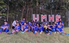 Boys junior varsity posing for a picture after their win against Damascus this past Monday with a score of 2-1.